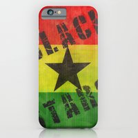 iPhone & iPod Case featuring Ghana Black Stars by Graffititech/DGNR