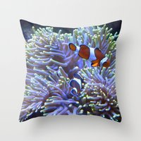 Australian Clownfish Throw Pillow