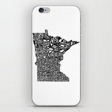 Typographic Minnesota iPhone & iPod Skin