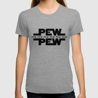 Pew Pew v2 (dark) Womens Fitted Tee Tri-Grey SMALL