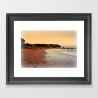 Red Sands On The Beach I… Framed Art Print