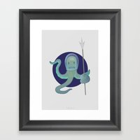 Lil Alien - Squiddy  Framed Art Print