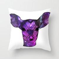 Deer oh deer by Ashley Rose Throw Pillow