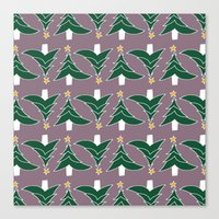CHRISTMAS TREE PURPLE Canvas Print