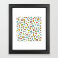 Another Pattern With Hea… Framed Art Print