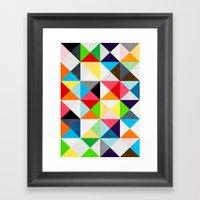 Geometric Morning Framed Art Print