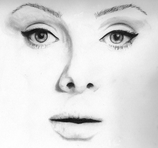 Adele (Face Number 4) Canvas Print