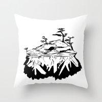 Crystal Islands 1 Throw Pillow