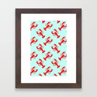 Rock Lobster Framed Art Print