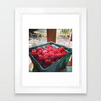 Raspberry Harvest Framed Art Print