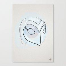 One line Phantom of the Paradise Helmet Canvas Print