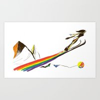 The Ski Jumper Art Print