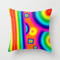 Psychedelich  Throw Pillow