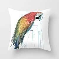 Polly in the City Throw Pillow