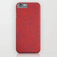 iPhone & iPod Case featuring Abstract #002 Cells (Red) by Jason Castillo