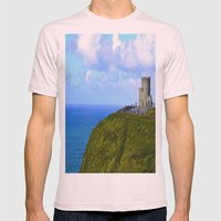 O'Brien's Tower Mens Fitted Tee Light Pink SMALL
