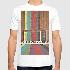 This Is Only A Test White Mens Fitted Tee SMALL