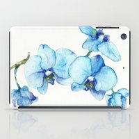 Blue Orchids - Watercolor iPad Case