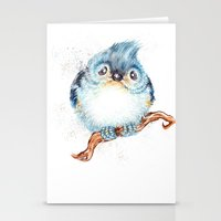 baby Stationery Cards featuring Baby titmouse by Patrizia Ambrosini