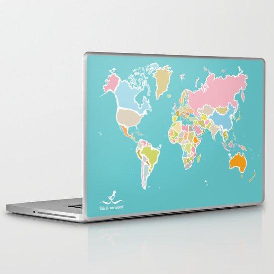 Map Print Laptop & iPad Skin
