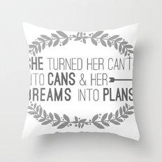 Plans Throw Pillow