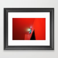 2007 - Exit In Red Framed Art Print