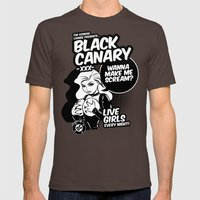 Ladies of DC - Black Canary Mens Fitted Tee Brown SMALL