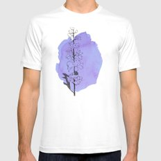 delphinium SMALL White Mens Fitted Tee