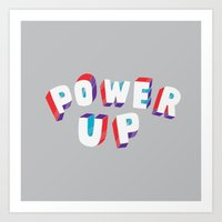 Power Up Art Print