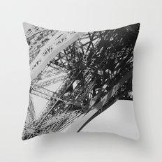 Eiffel Tower Close-up Throw Pillow