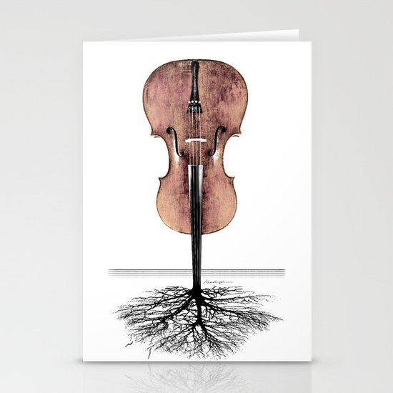 Rooted Sound II Stationery Card
