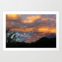 Beuna Vista Sunset Art Print