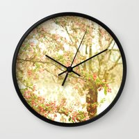 She Dreamed Of Flowers I… Wall Clock