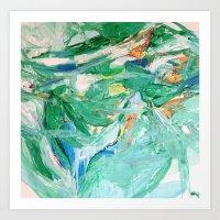 Melody In Green  Art Print