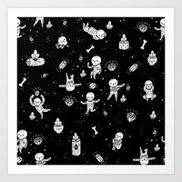 Skeletoile Art Print
