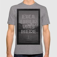 Excalibur was here Mens Fitted Tee Athletic Grey SMALL