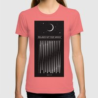 2015 Moon Calendar Womens Fitted Tee Pomegranate SMALL