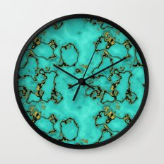 GOLD TURQUOISE Wall Clock