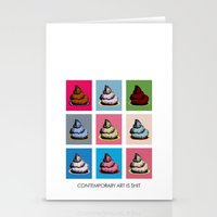 Contemporary art Stationery Cards