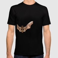 Brown PolyBat  Mens Fitted Tee Black SMALL