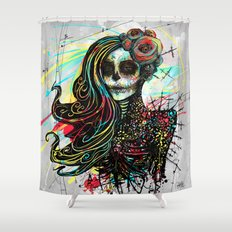 Vivid Muerte Shower Curtain