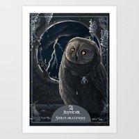 solar owl jupiter  Art Print