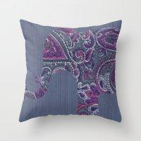Paisley Elephant Throw Pillow