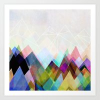 mountain Art Prints featuring Graphic 104 by Mareike Böhmer