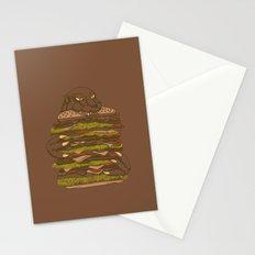 Godzilla vs Hamburger Stationery Cards