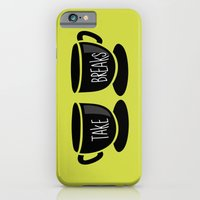 iPhone & iPod Case featuring Take breaks. A PSA for stressed creatives. by Juliana Rojas   Puchu