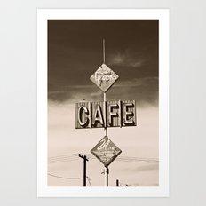 24 hour Cafe  Art Print