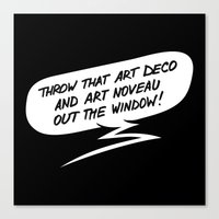 Throw that art deco! Canvas Print