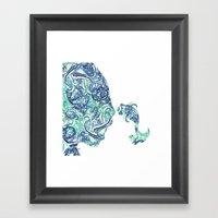 Homme Poisson Azulejos Framed Art Print
