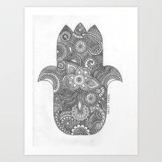 Hamsa - B&W Art Print